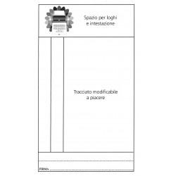 Cartellini pesa 2 copie carta chimica incollati in testa